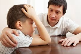 dad helping son